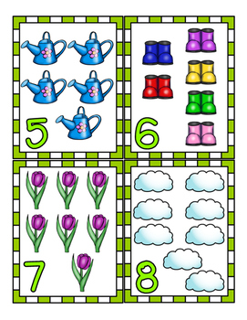 Spring Flash Cards!  Numerals and upper and lower case letters!