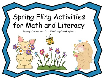 Spring Fling Activities for Math and Literacy 100 Pages!