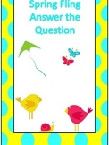 Spring Fling Answer the Question Learning Game