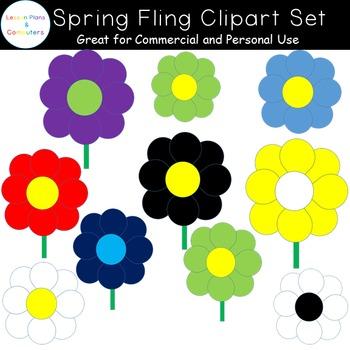 Spring Fling Clip Art Set