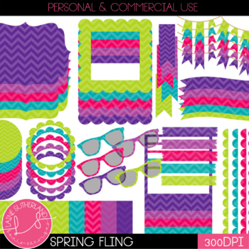 Spring Fling Digital Accent Set