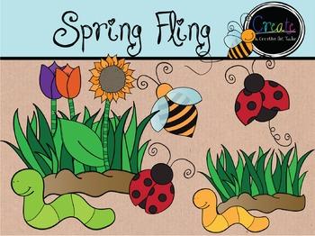 Spring Fling- Digital Clipart