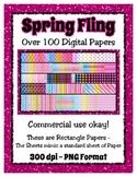 Spring Fling Digital Paper Background Bundle Collection -