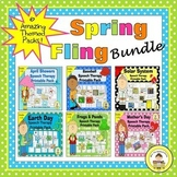 Spring Speech Therapy Bundle:Baseball, Space, Frogs,Mother