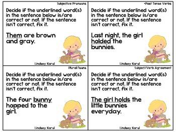 Spring Fling Grammatical Judgment Pack