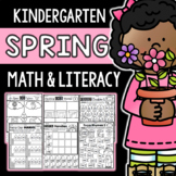 Spring Math & Literacy Packet for Kindergarten