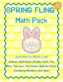 Spring Fling Math Pack: Independent, Partner, and Center Work!