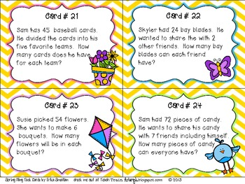 Spring Fling {Multiplication and Division Task Cards}