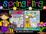 Spring Fling No Prep Printables BUNDLE- Insects & Spring Worksheets (190+ pages)