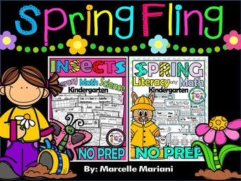 Spring Fling No Prep Printables BUNDLE- Insects & Spring W
