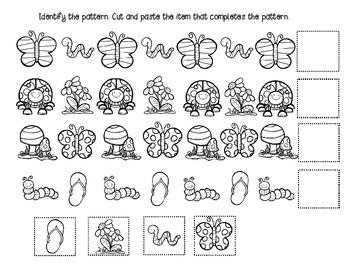 Spring Fling Pattern worksheets