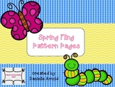 Spring Fling Pattern worksheets