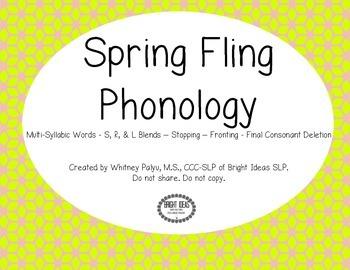 Spring Fling Phonology