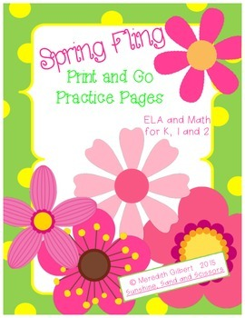 Spring Fling Print and Go Practice Pages