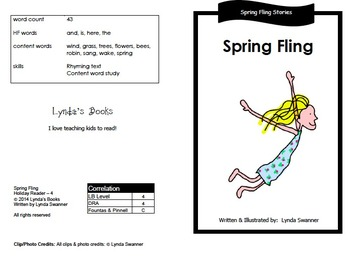 Spring Fling Readers with Vocabulary Cards