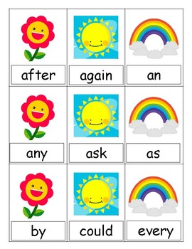Spring Fling Sight Word UNO (First)