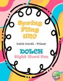 Spring Fling Sight Word UNO (Primer)