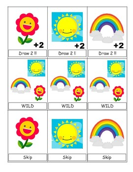 Spring Fling Sight Word UNO (Second)