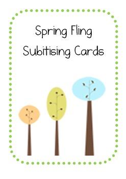 Spring Fling Subitising Cards