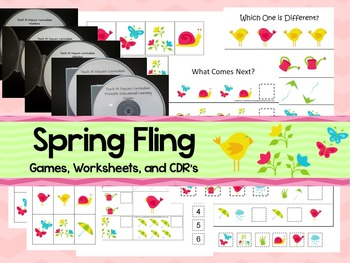 Spring Fling preschool curriculum package. Great for daycare and homeschool.