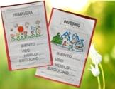 Seasons & Senses Flip Books - Informational text -Spanish