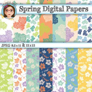 Floral Digital Papers (FREEBIE)