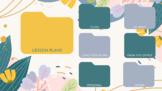 Spring Floral Flower Computer Organizer Desktop Wallpaper