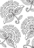 Spring Floral Printable Coloring Page