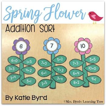 Spring Flower Addition Sort
