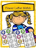 Spring Flower Alphabet Matching - Upper case and Lower case Match Activity