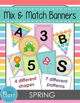 Spring Banner- Mix & Match
