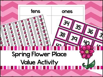 Spring Flower Base Ten Place Value Activity. Kindergarten-
