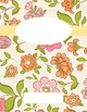 Spring Flower Binder Covers and Sides (Pink, Green, and Orange)