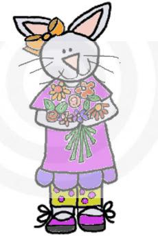 Spring Flower Bunny clip art
