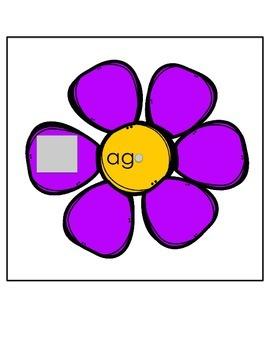Spring Flower CVC Word Wheels  'a' pack