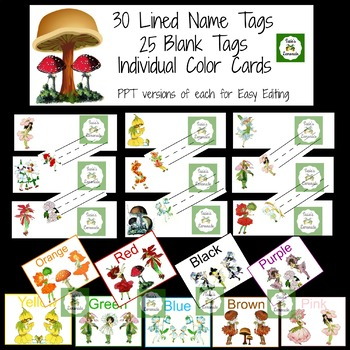 Spring Flower Children  ABCs, Name Tags, Colors and More