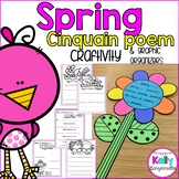 Spring Flower Cinquain Poem Craftivity and graphic organizers