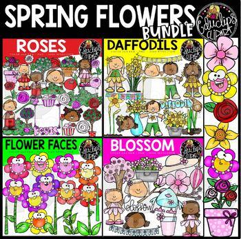 Spring Flower Clipart Bundle {Educlips Clipart}