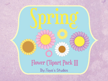 Spring Flower Clipart Pack III