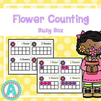 Spring Flower Counting Busy Box