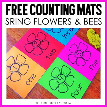 Spring Flower Counting Mats Freebie