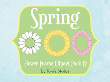 Spring Flower Frame Clipart Pack IV