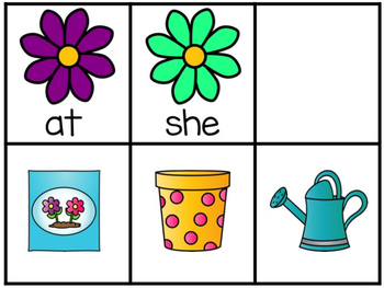 Spring Flower Fry's First 50 Sight Word Game