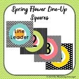 Spring Flower Line-Up Squares