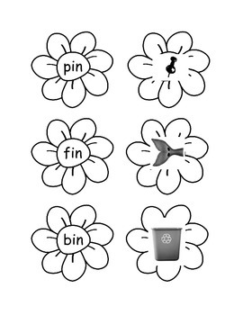 Spring Flower Literacy Sort-Full Version