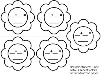 *Spring Flower Math Craftivity--Number Sense & Operations in Base 10 (2 Digit)