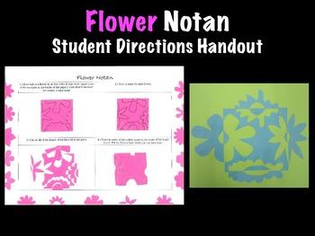 Spring Flower Notan Student Handout Printable Art Project