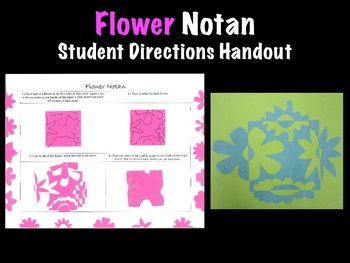 Spring Flower Notan Student Handout Printable Art Project
