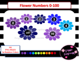 Spring Flower Numbers 0-100 Clipart