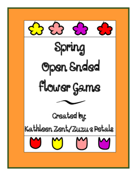 Spring Flower Open Ended Card Game